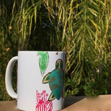 Turtle Gift Set: mug and handpainted watercolor card. Super gift idea for Turtle Lovers! 11 oz ceramic mug with Artsy turtle design. Turtle mugs - Mika Harmony