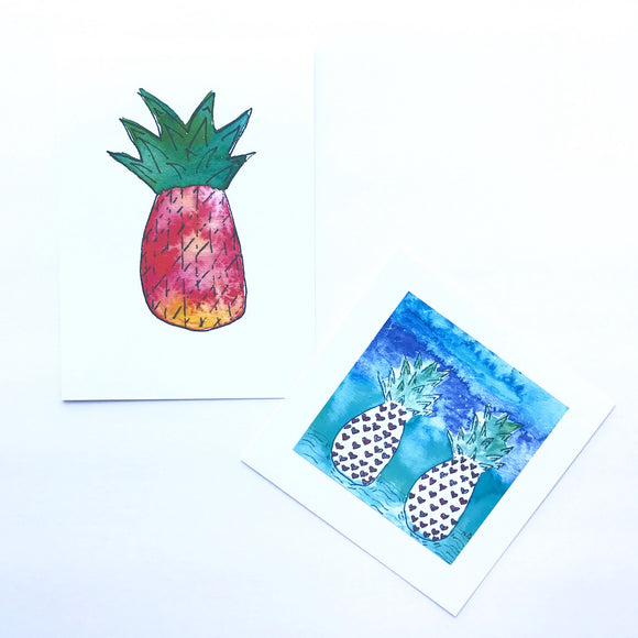 Pineapple Prints, perfect gifts or perfect art to frame for your Hawaiian home or condo!