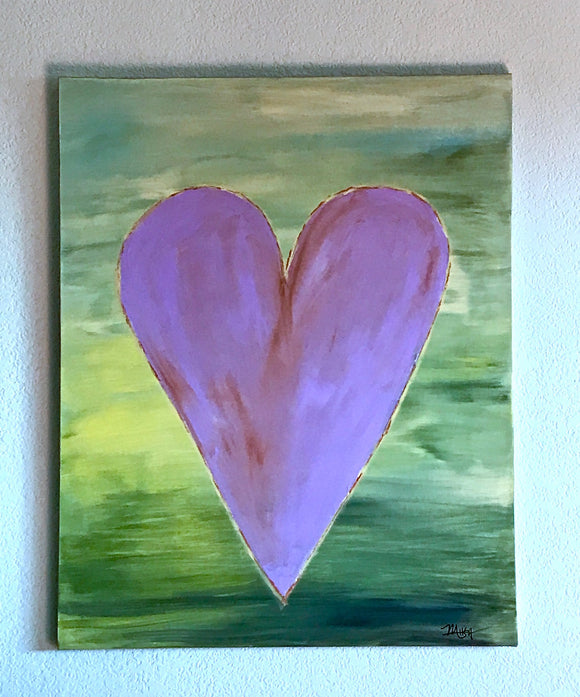 Lavender Heart Painting,
