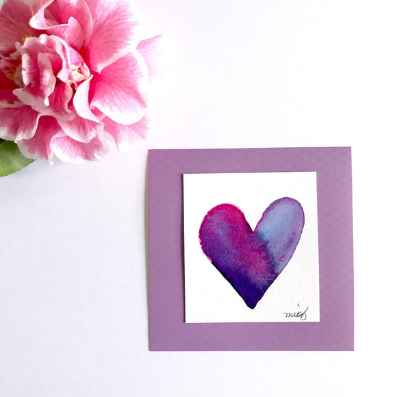 purple and pink artwork. great gift idea for bestie