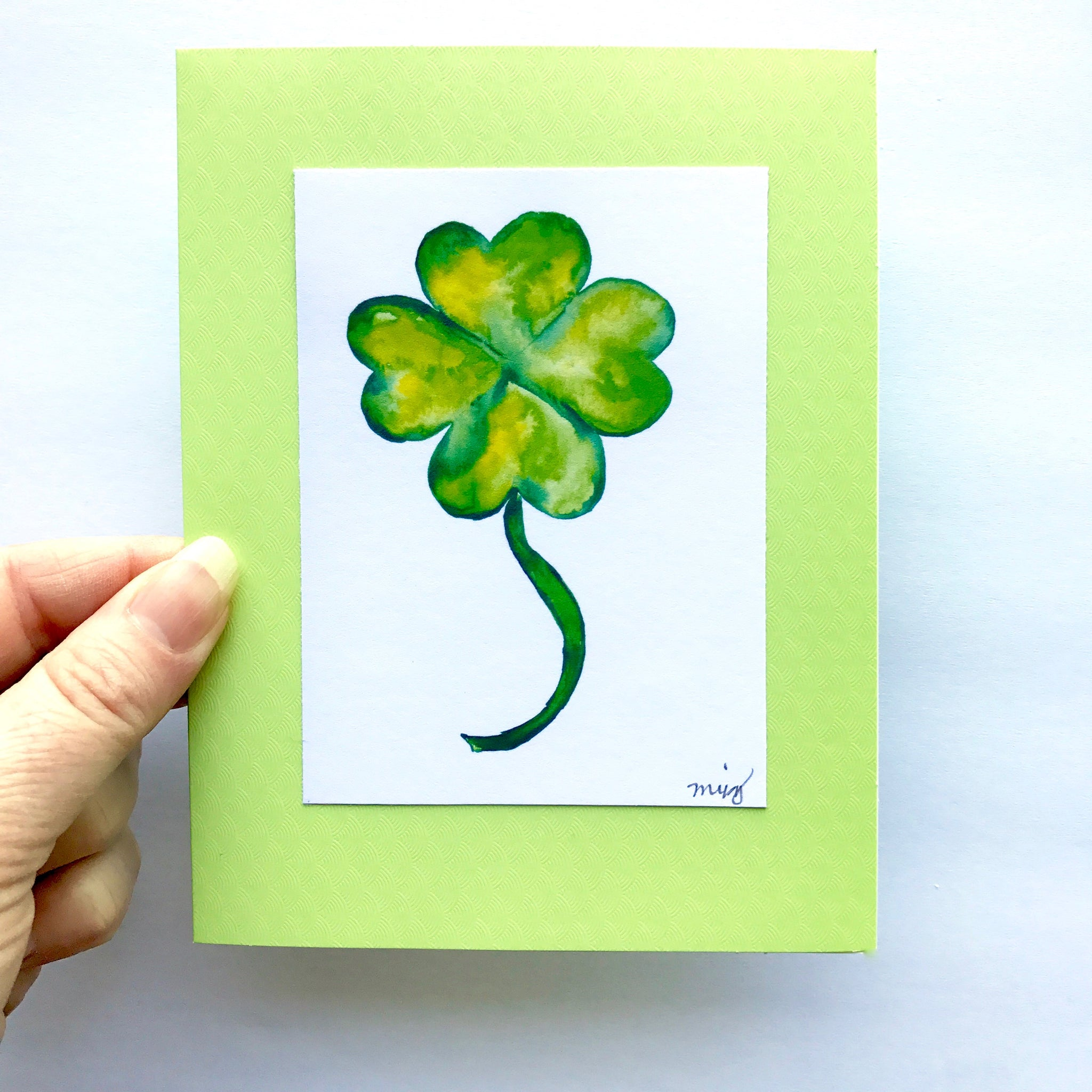 St Patricks Day Lucky 4 Leaf Clover Greeting Cards With Free Us