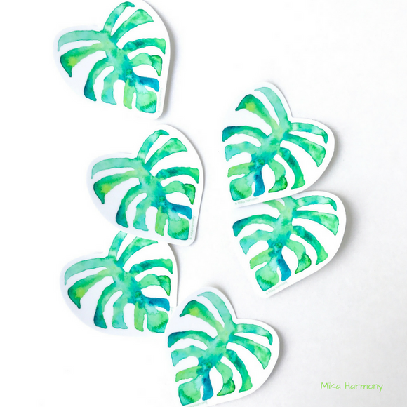 Tropical Monstera Vinyl Stickers