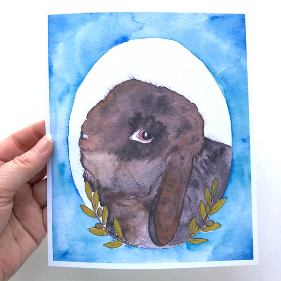 One of a Kind Watercolor Illustration of Your Bunny