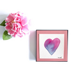 "Gift idea for your cool Grandma, Cat Moms and Sisters: ""Periwinkle Flower Blush Heart"" - Mika Harmony"