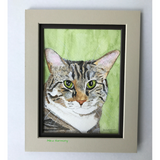 "ORIGINAL ""True"" Cat Watercolor Illustration + a set of 4 kitty notecards for you"
