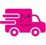 M Cake Boutique - delivery to your doorstep... (pink van courtesy of @kisspng)