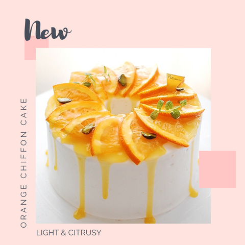 Orange Chiffon Cake - M Cake Boutique