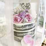 Naked cake with fresh flowers - M Cake Boutique