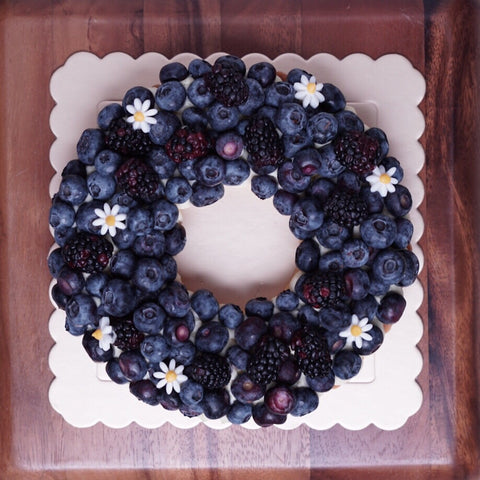 Blueberry Wreath Tart - M Cake Boutique