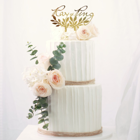 Rustic Fresh Flower - M Cake Boutique