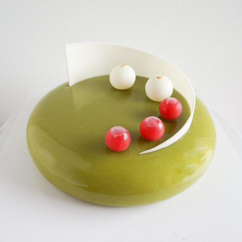 Matcha Raspberry Mousse Cake - M Cake Boutique