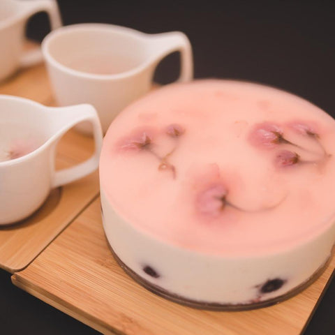 Sakura Cherry Mousse Cake - M Cake Boutique