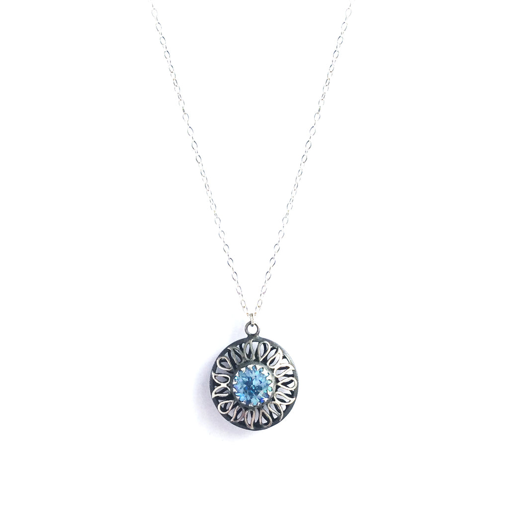 Alia Blue Swarovski Necklace