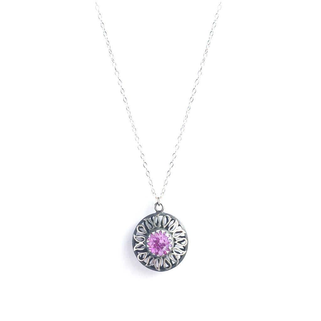 Alia Pink Swarovski Necklace