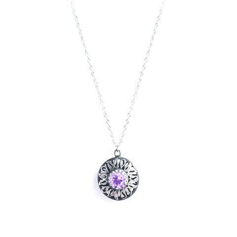 Alia Lavender Swarovski Necklace