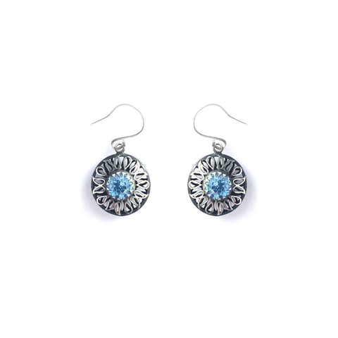 Alia Blue Swarovski Earrings