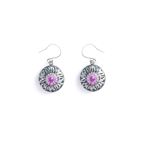 Alia Pink Swarovski Earrings