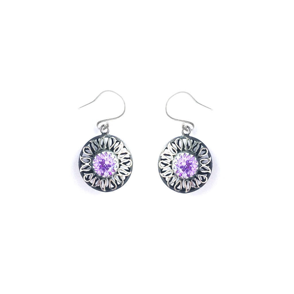 Alia Lavender Swarovski Earrings