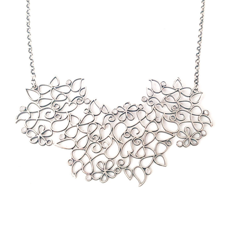 Big Henna Filigree Necklace