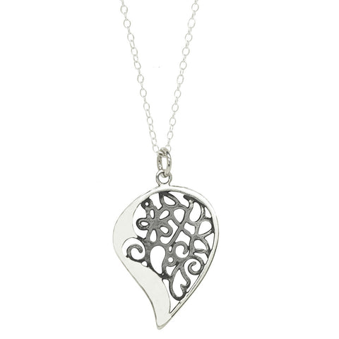 Big Paisley Filigree Pendant