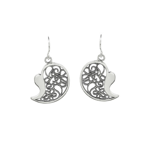 Heart Filigree Earrings