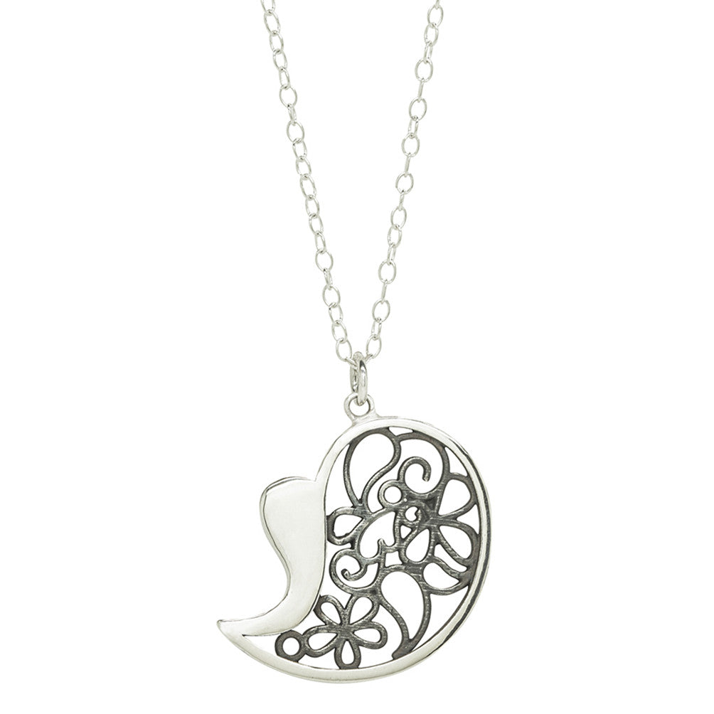 Big Heart Filigree Pendant