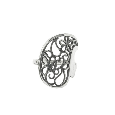 Big Heart Filigree Ring