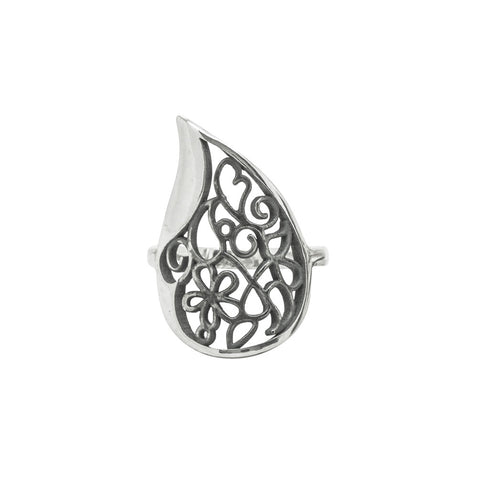 Big Paisley Filigree Ring