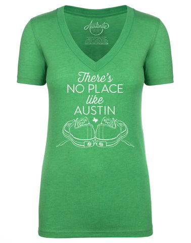 Women's Green V-Neck