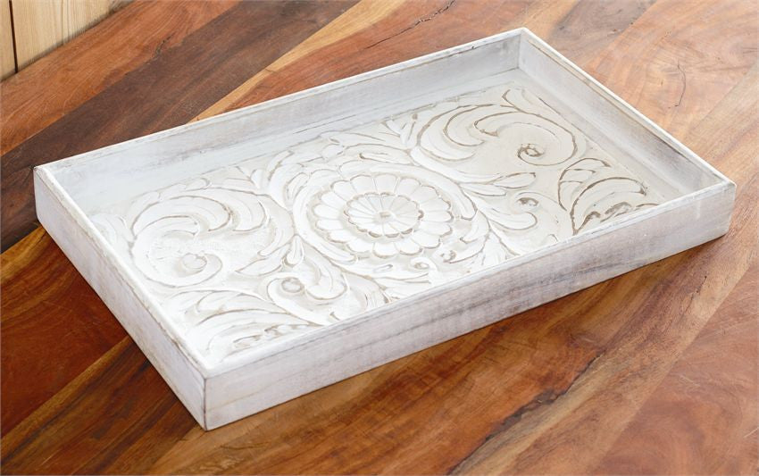 Carved Wood Gallery Tray