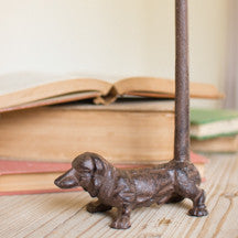 Cast Iron Duchshund Paper Towel Holder