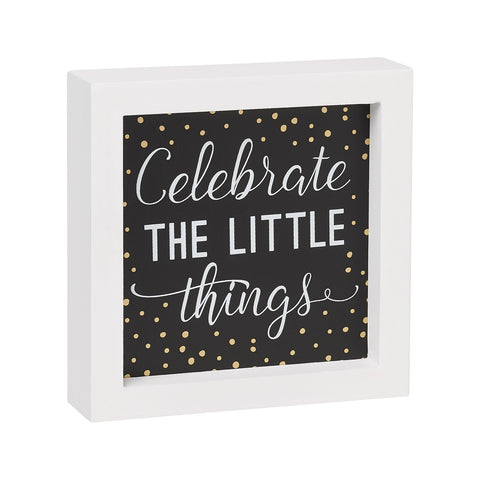 Celebrate Framed Box Sign