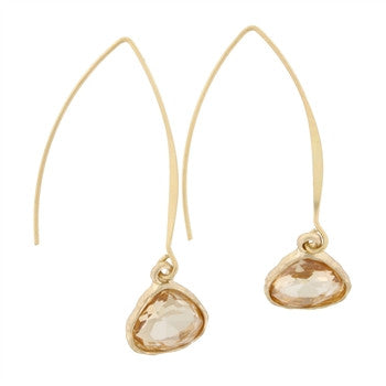 Matte Gold Drop Earrings