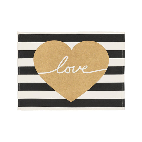 Gold Love Placemat
