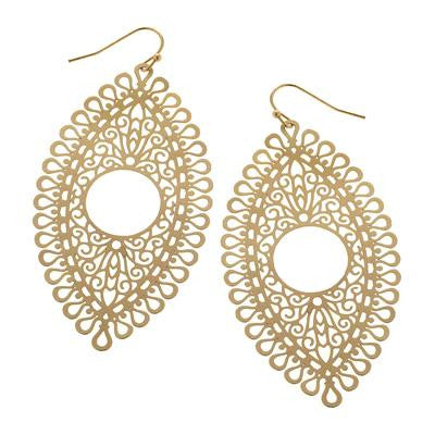 Gold Peephole Earrings