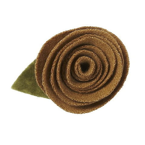 Gold Wool Rose Magnet