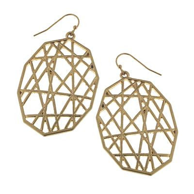 Gold Woven Earrings