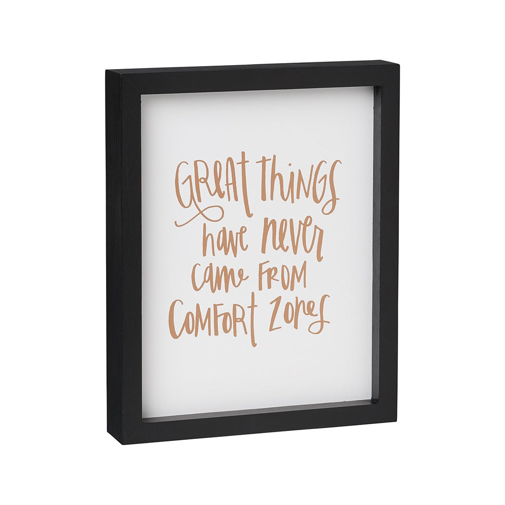 Great Things Framed Box Sign