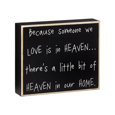 Heaven In Our Home Box Sign