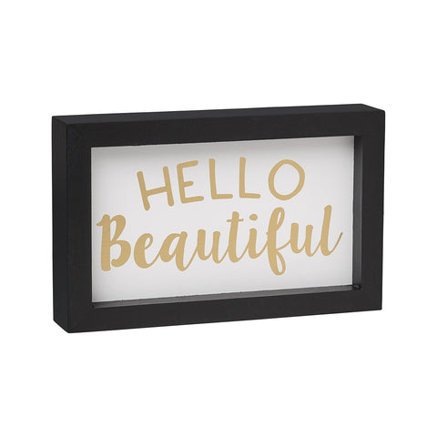 Hello Beautiful Framed Box Sign