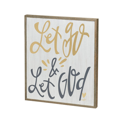 Let God Barn Box Sign
