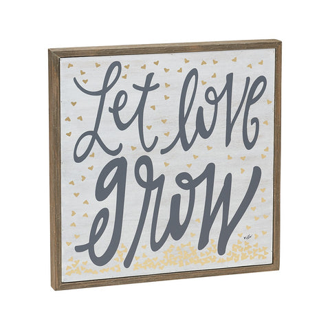 Let Love Grow Barn Box Sign