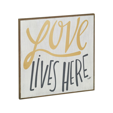 Love Lives Here Barn Box Sign