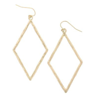Matte Gold Diamond Style Earrings