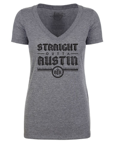 Women's Gray V-Neck