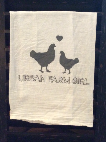Urban Farm Girl Flour Sack Towel
