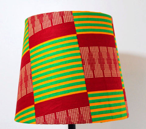 Kente lampshade, drum lampshade, nursery decor