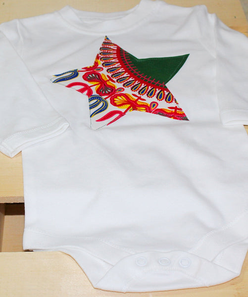 Dashiki bodysuit- Born to be a star