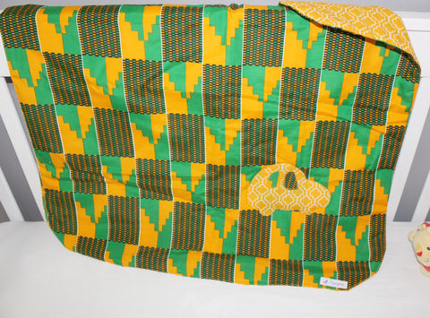 Kente baby blanket-Race car