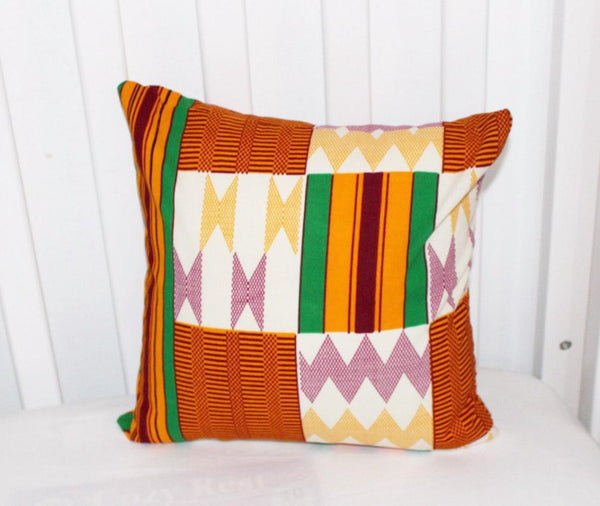 Kente Pillow, Nursery pillow, Crib pillow